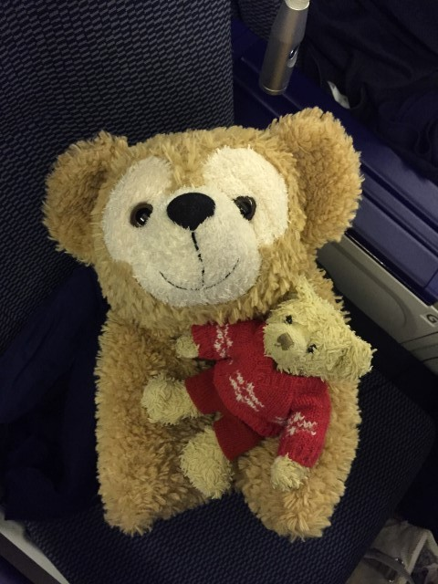 With Duffy the Disney Bear